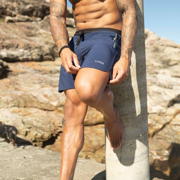 Premium Navy Lifestyle Shorts