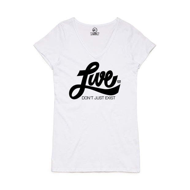 White LiveCo. V-Neck