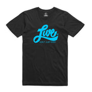 Blue On Black LiveCo. T-Shirt