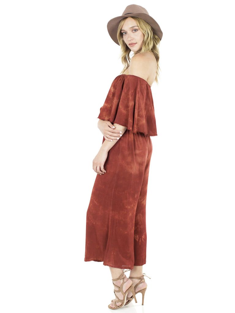 Women outfit in a jumpsuit rental from BLUE LIFE called Festive Off Shoulder Maxi