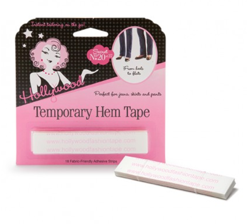 Women wearing a intimate apparel rental from Hollywood Fashion Secrets called Temporary Hem Tape