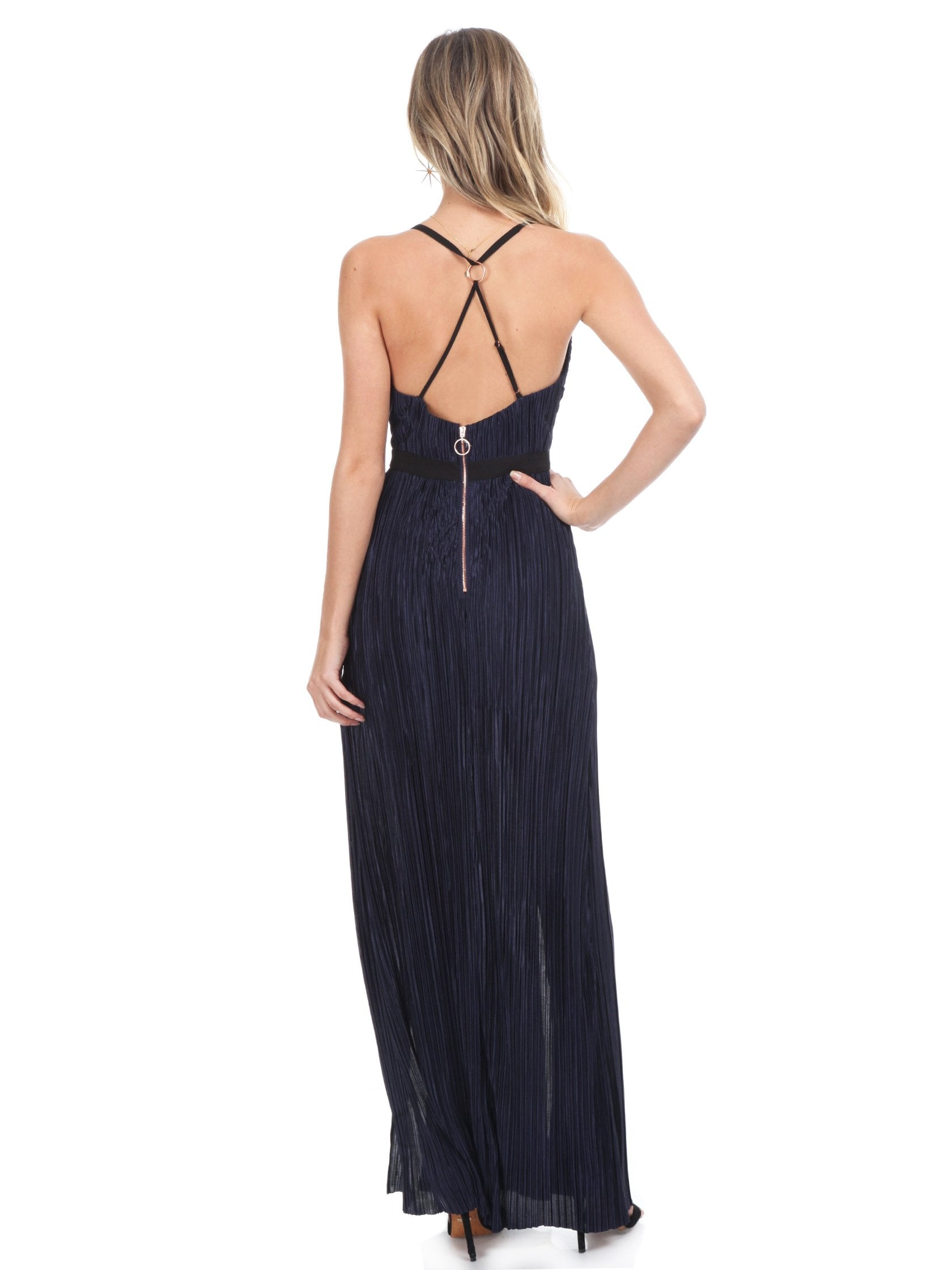 Women wearing a dress rental from STYLESTALKER called Alexa Maxi Dress