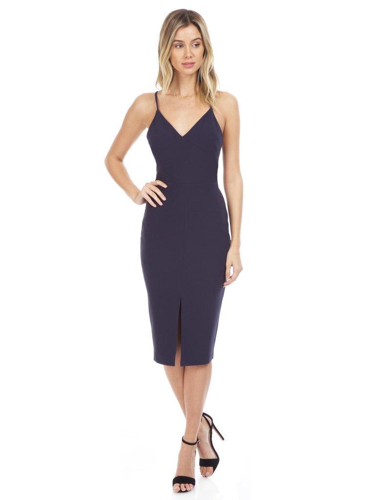 Women wearing a dress rental from LIKELY called Alexa Maxi Dress