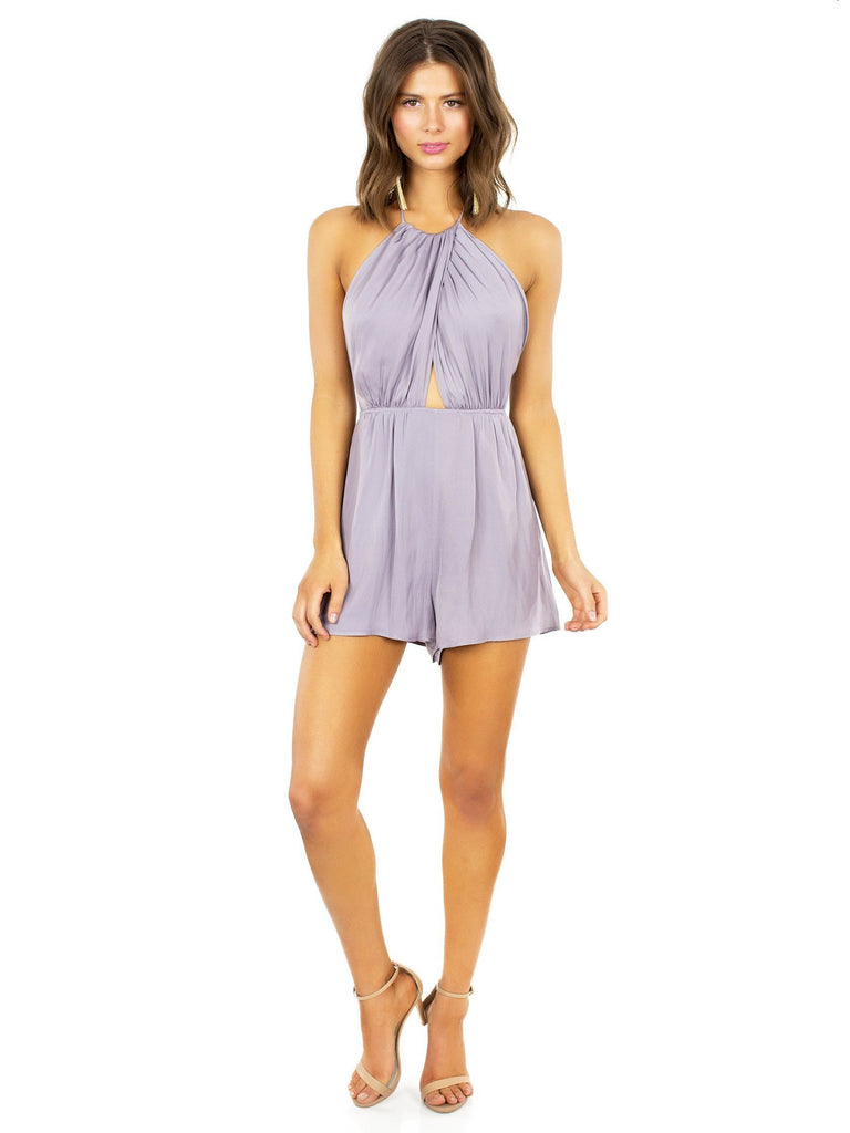Girl outfit in a romper rental from Lush called Anja Midi Dress