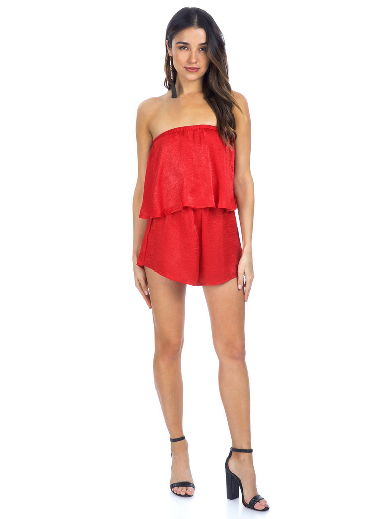 Women outfit in a romper rental from Show Me Your Mumu called Hacienda Maxi Dress