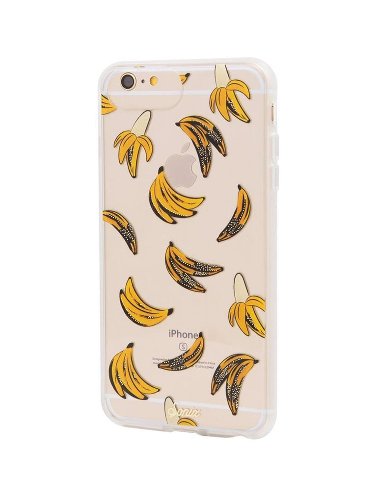 Women wearing a phone case rental from Sonix called Banana Babe