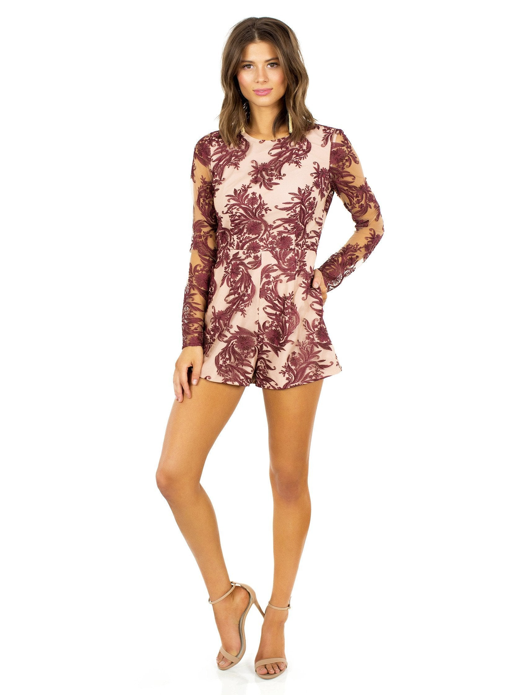 Girl outfit in a romper rental from STYLESTALKER called Mehndi Ls Romper