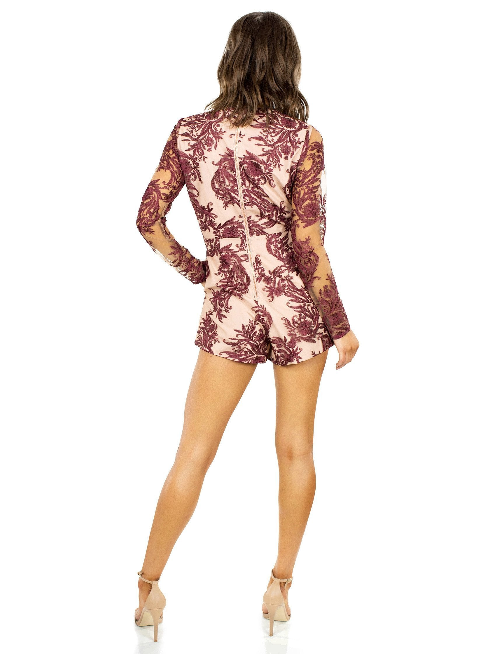 Women wearing a romper rental from STYLESTALKER called Mehndi Ls Romper