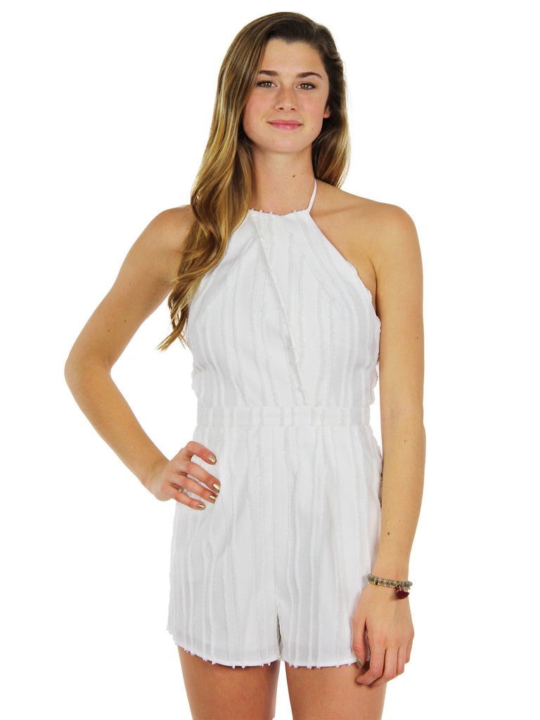 Girl wearing a romper rental from STYLESTALKER called Kesen Maxi Dress