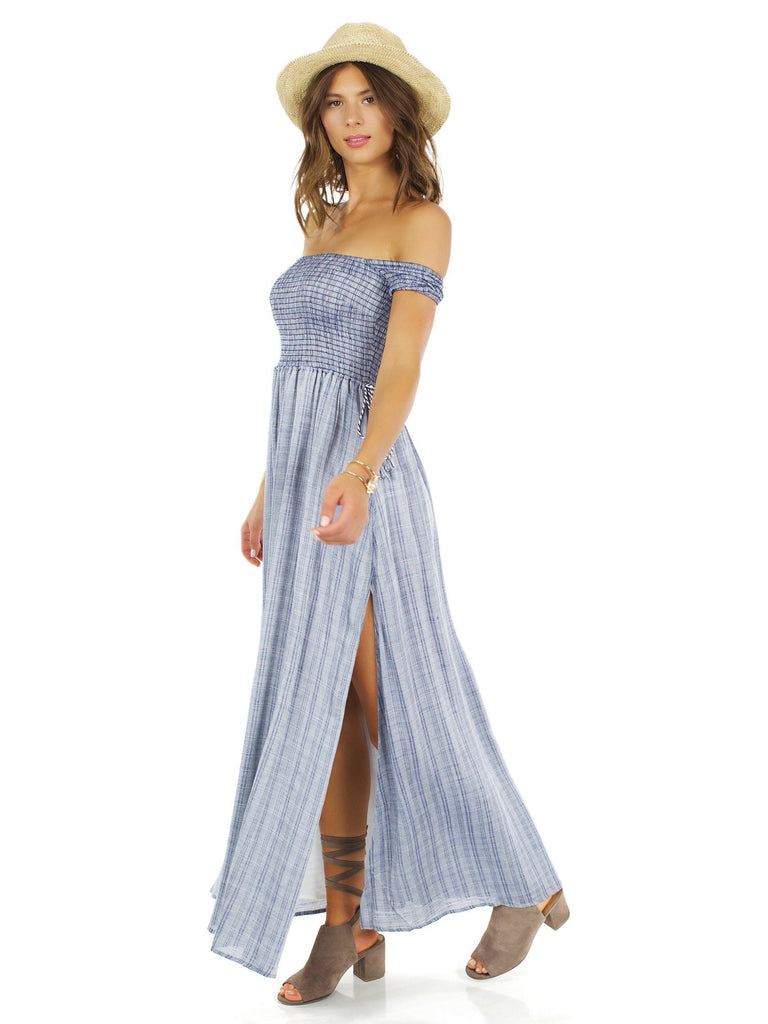 Women outfit in a dress rental from The Jetset Diaries called Allegra Faux Wrap Maxi Dress