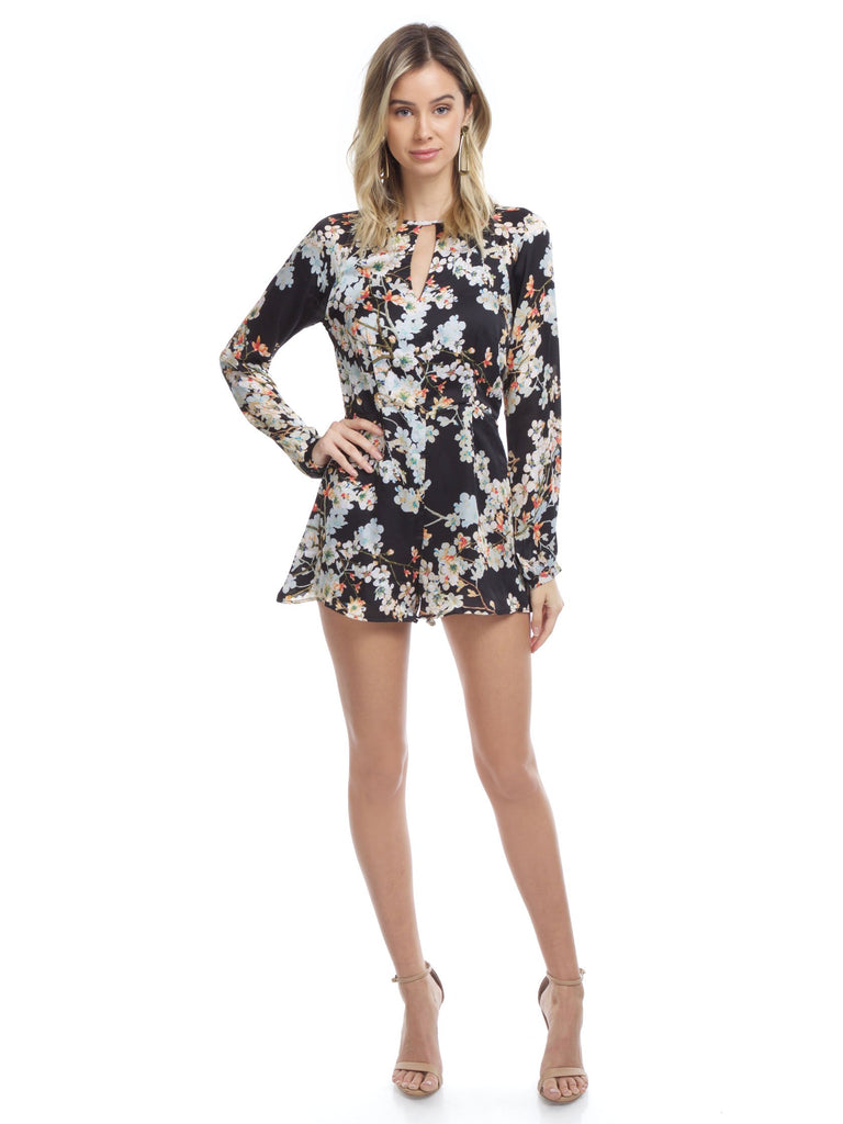 Women wearing a romper rental from WYLDR called Double Trouble Playsuit