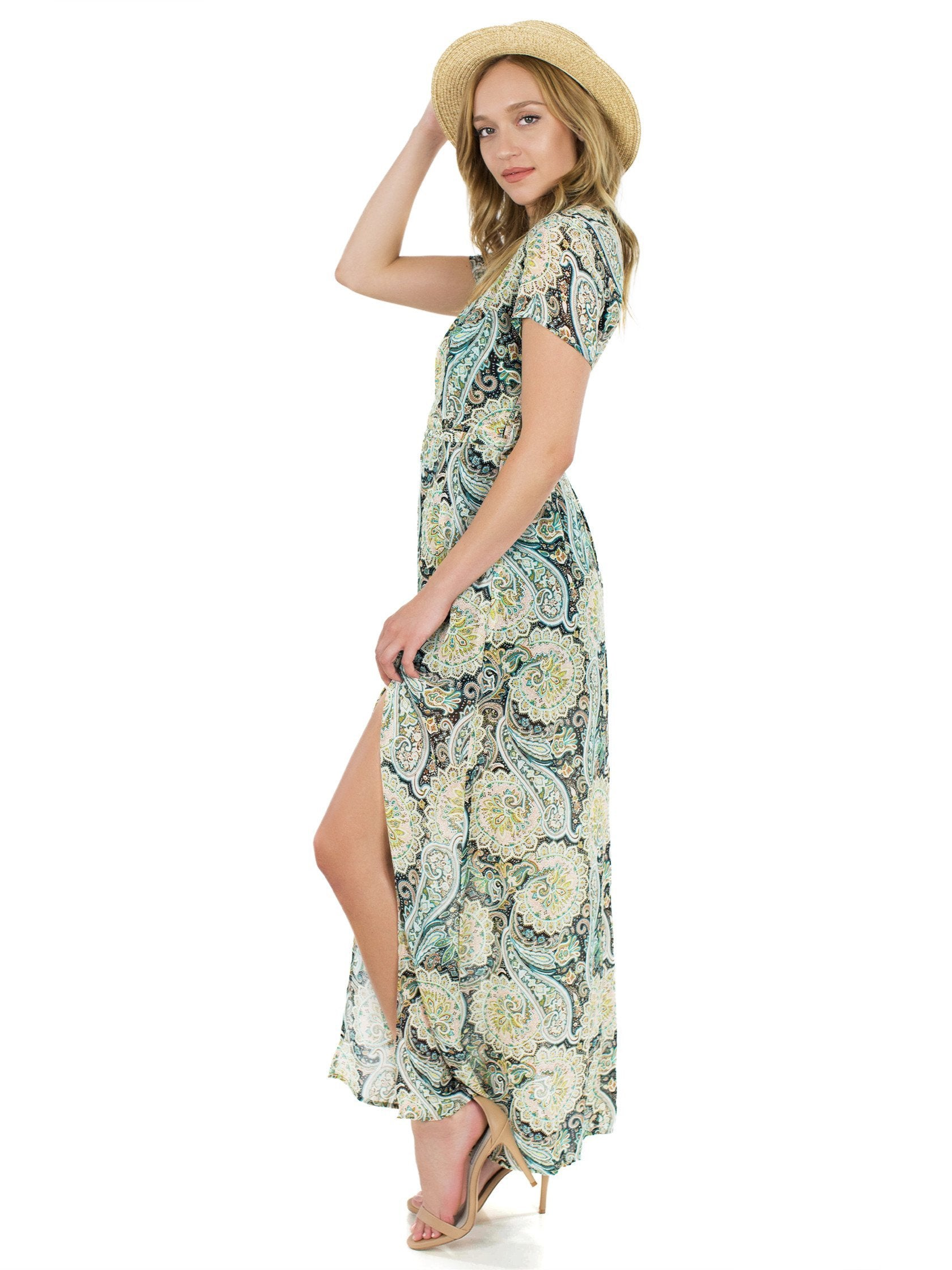 Girl outfit in a dress rental from WYLDR called Flawless Maxi Dress