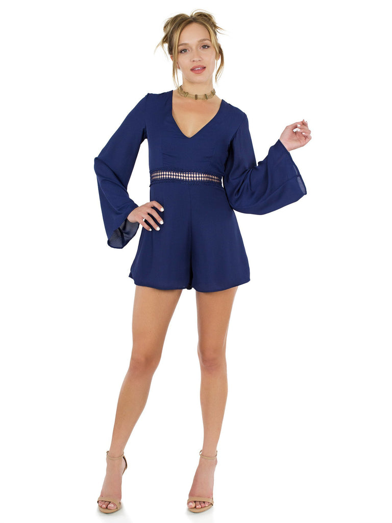 Women outfit in a romper rental from WYLDR called Eveline Dress