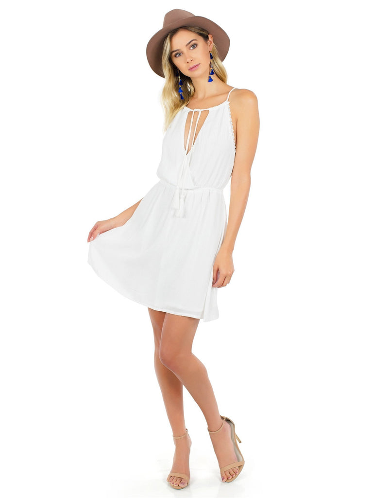Women wearing a dress rental from WYLDR called The Babe Mini Dress