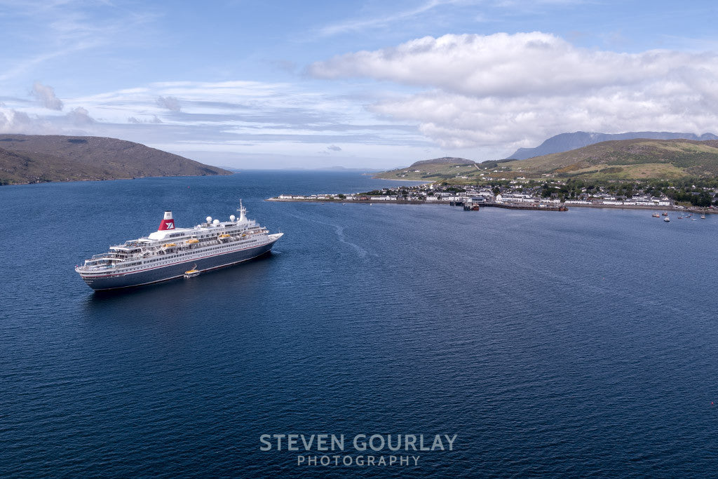 Aerial Photograph Of Cruise Ship MV Boudicca 0044