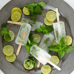 Protein Mint Lemonade Popsicles