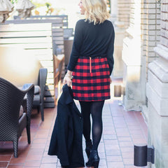 plaid dress cute outfits with black tights
