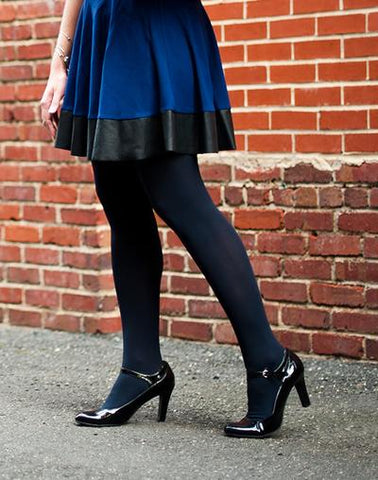 What color tights to wear with a navy dress navy tights