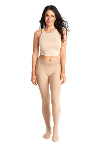 nude tights - 97 denier with no-squeeze comfort waistband