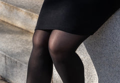 what to wear to a funeral black dress and black sheer tights