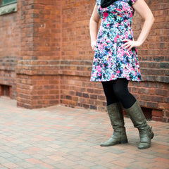 floral dress cute outfits with black tights