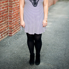 shirt dress cute outfits with black tights