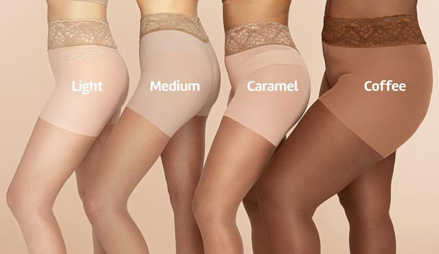 Brown Pantyhose, Sheer Pantyhose With Luxe Comfort Top, Coffee 1