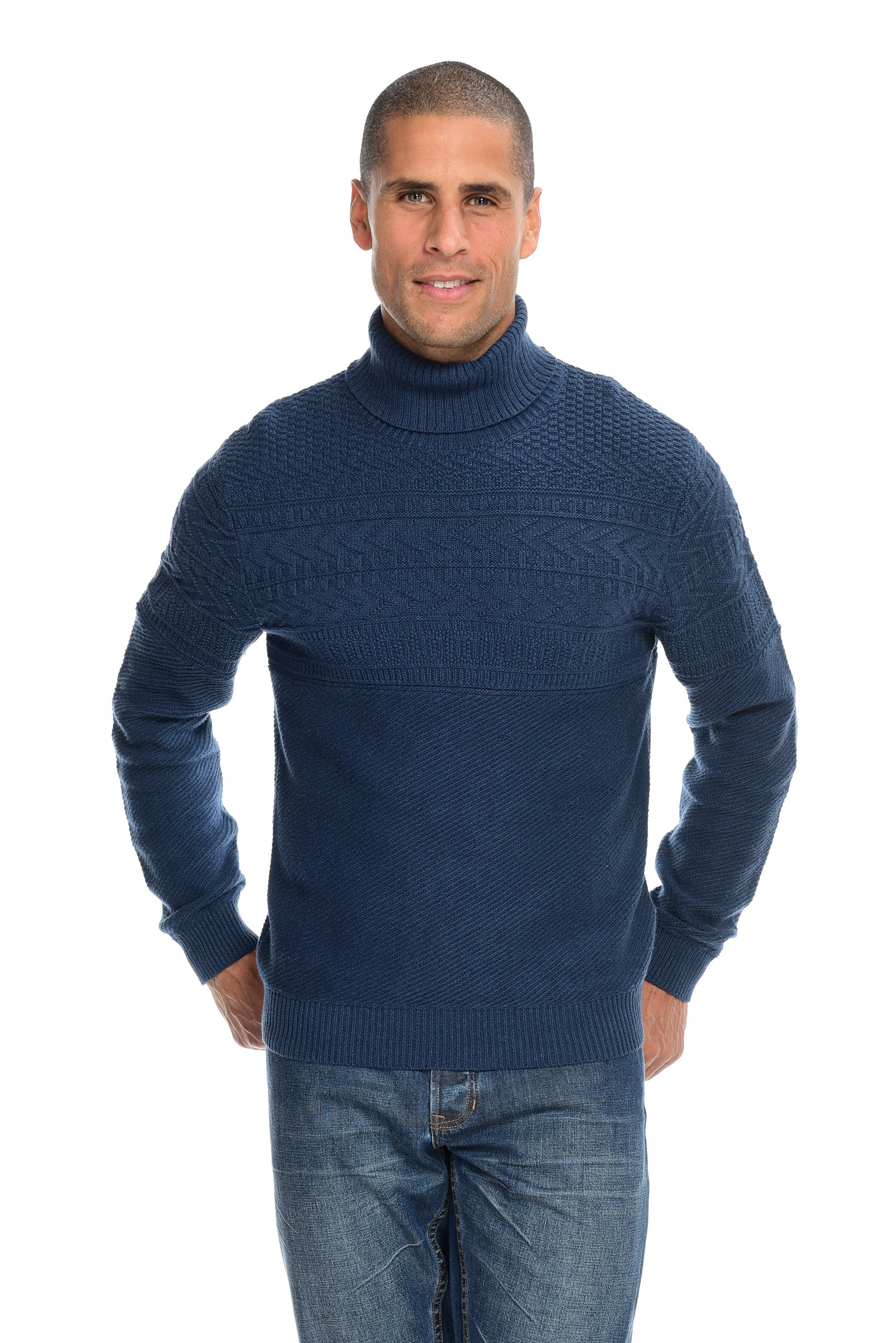 Fisherman Knit Turtleneck Sweater Men's