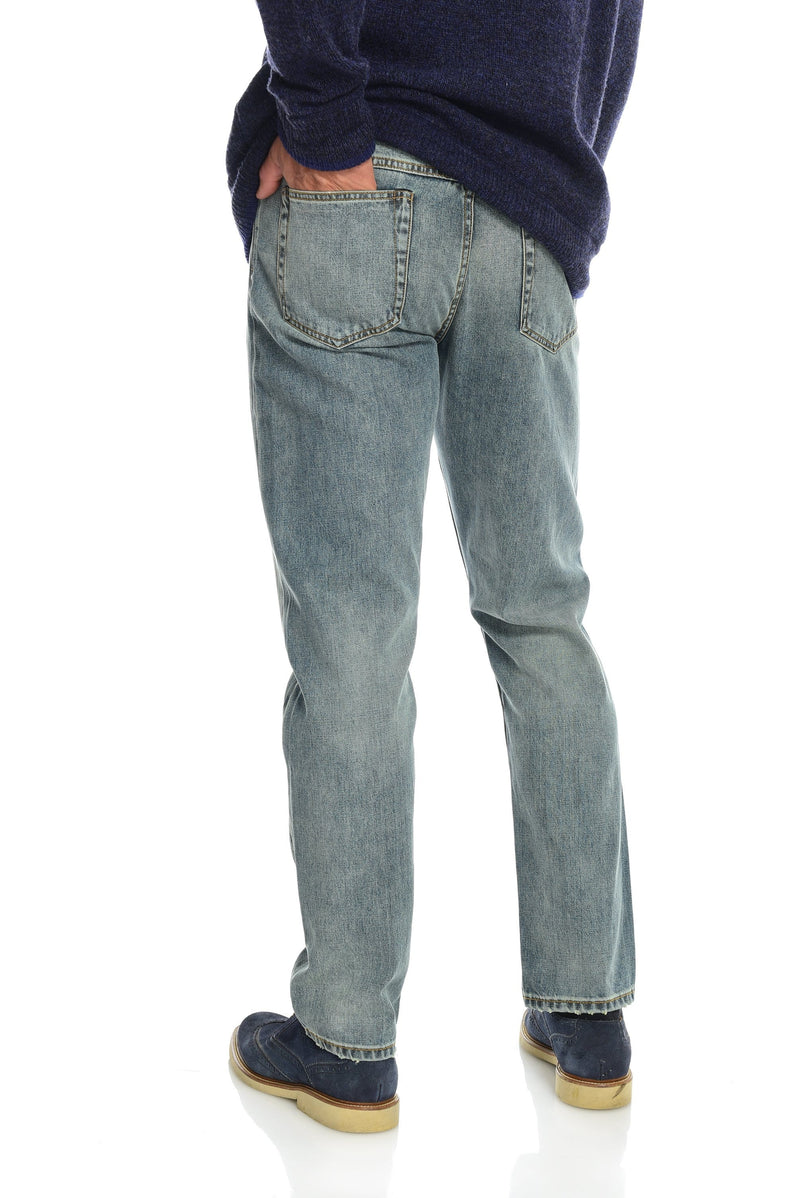 Selvedge Denim Jeans Men's Light Wash