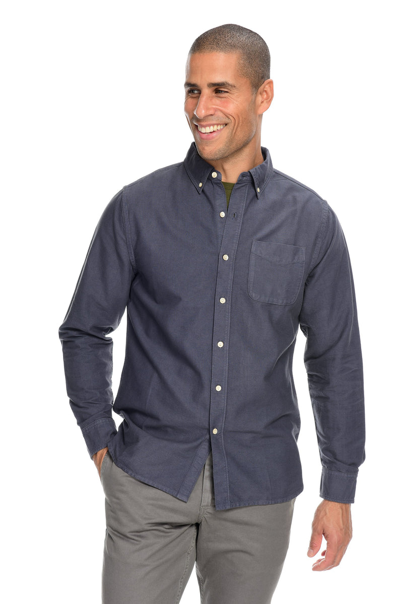 Garment Dyed Oxford Shirting Men's