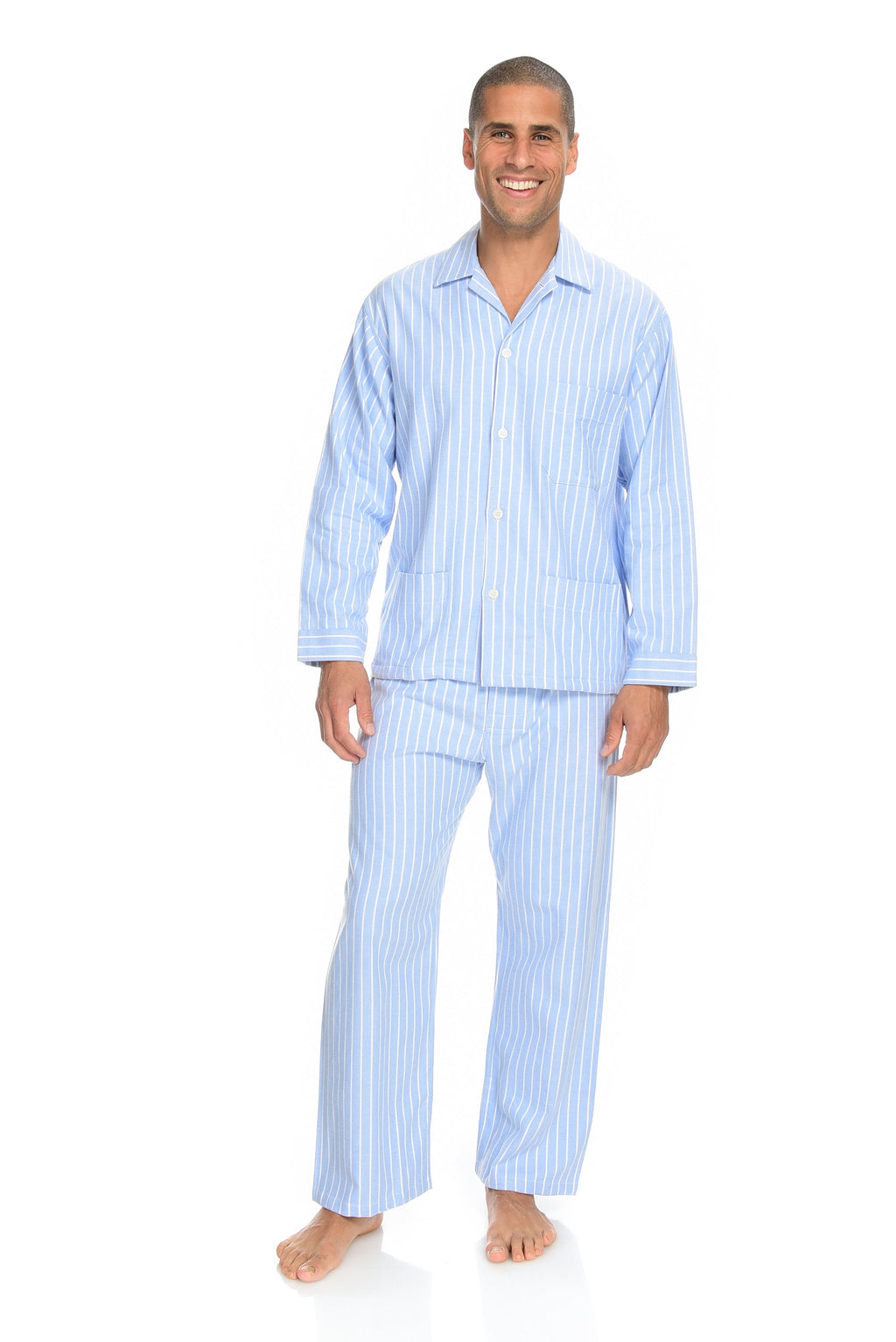 Flannel Pyjamas Men's Classic Stripe