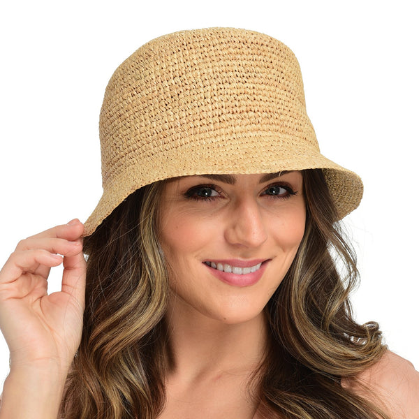 Aden Raffia Crochet Bucket Hat