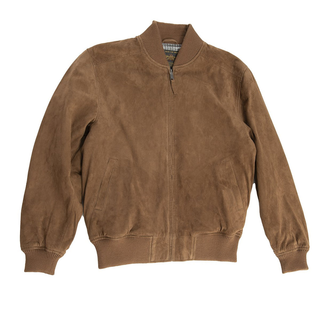 Leather Toland Baseball Jacket Goat Suede