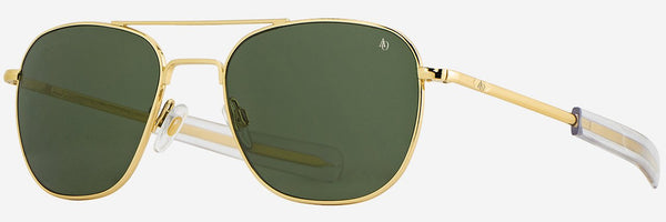 AMERICAN OPTICAL ORIGINAL PILOT GOLD POLARIZED SUNGLASSES 55/57
