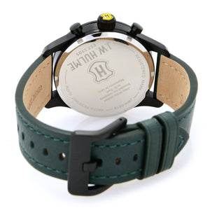 43mm Quartz Multi Function Leather Strap Watch