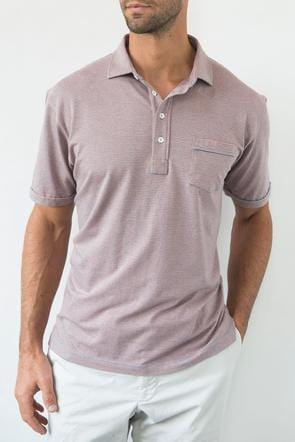 Yard Dyed Striped Polo