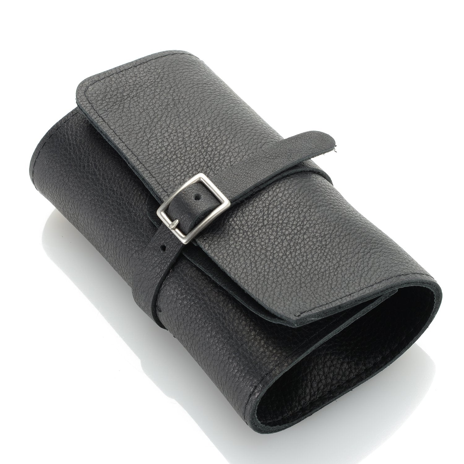 Leather Watch Carrier Roll  Black
