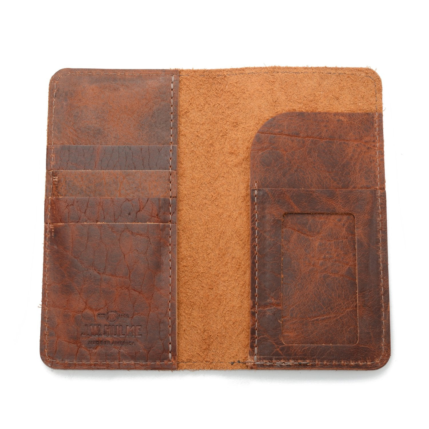Checkbook Wallet Leather Bison