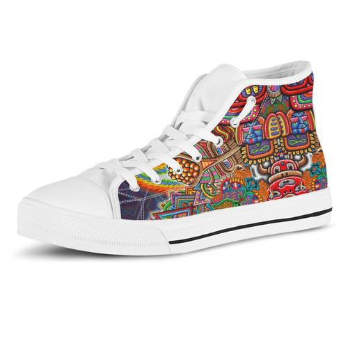 Inner Art World Colorful Sneakers by Visionary Artists