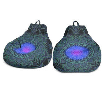 Inner Art World Colorful Bean Bags by Visionary Artists