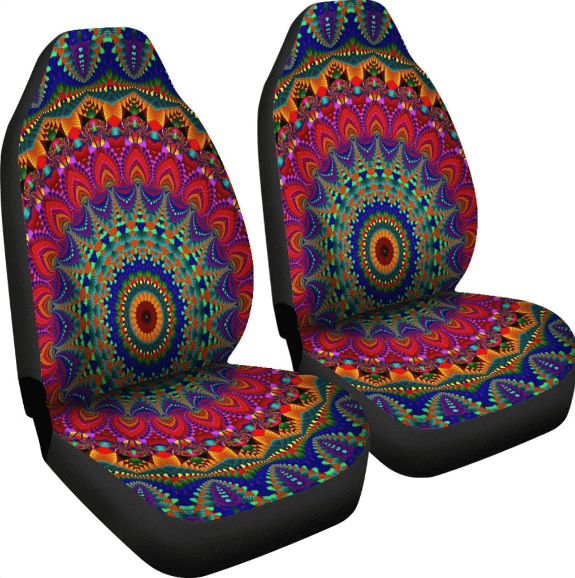 Inner Art World Colorful Car Seat Covers by Visionary Artists