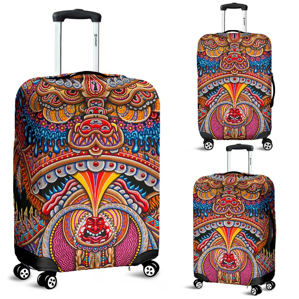 Inner Art World Colorful Luggage Covers by Visionary Artists