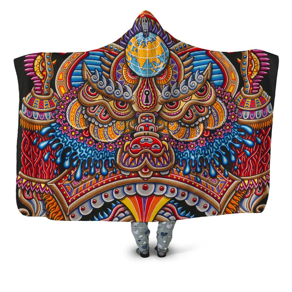 Inner Art World Colorful Hooded Blankets by Visionary Artists