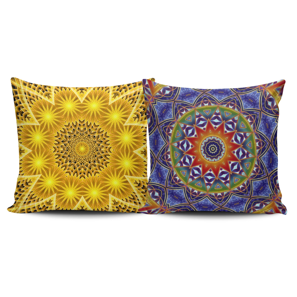 Inner Art World Colorful Pillow Covers by Visionary Artists