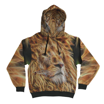 AOP Side Pocket Hoodie - Fractal Lion