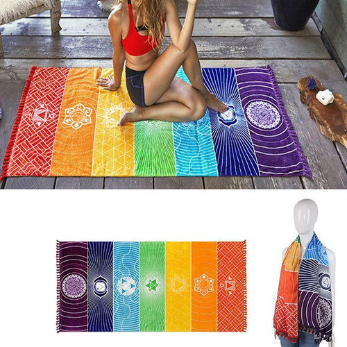 7 Chakras Tapestry Meditation Runner