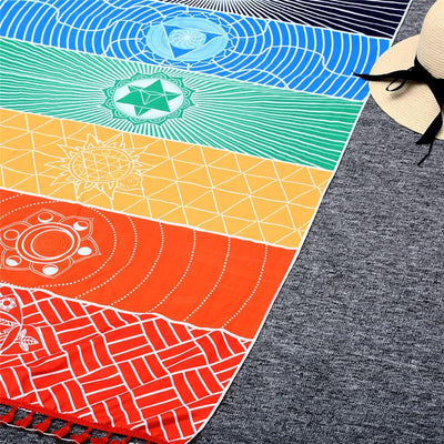 Beach Towel - 7 Chakra Tapestry Meditation Runner