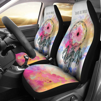 Car Seat Covers - Colorful Flowers Car Seat Covers