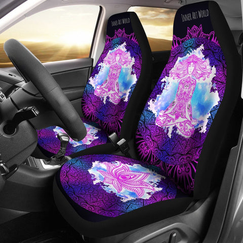 Image of Car Seat Covers - Lotus Lady Car Seat Covers