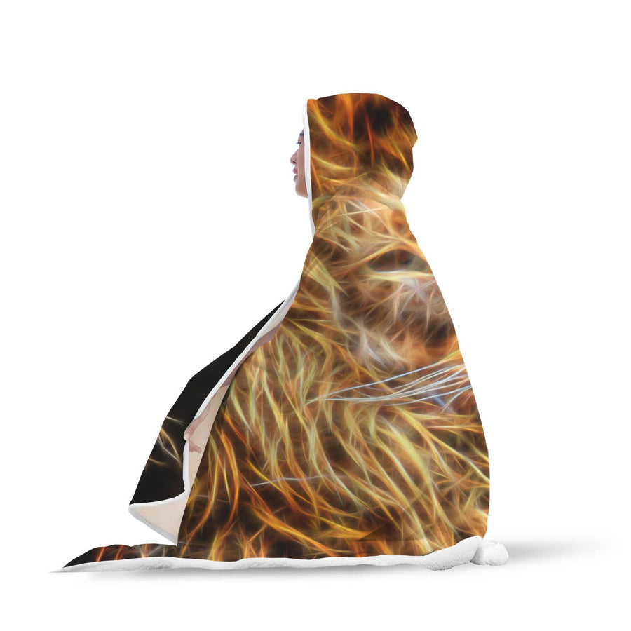 Hooded Blanket - Fractal Lion